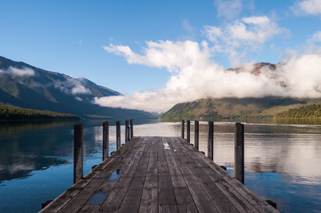 Tranquil scene at Nelson Lake National Park in the South Island of New Zealand photo