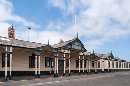 oamaru: Beautiful architecture of the Railway Station Oamaru, New Zealand. Built in 1900 Editorial