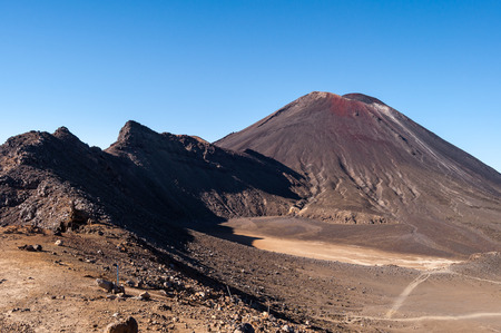 tongariro national park: Landscape view from Tongariro National Park, New Zealand Stock Photo