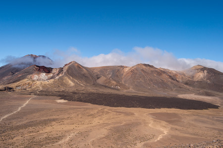 Landscape view from Tongariro National Park, New Zealand photo
