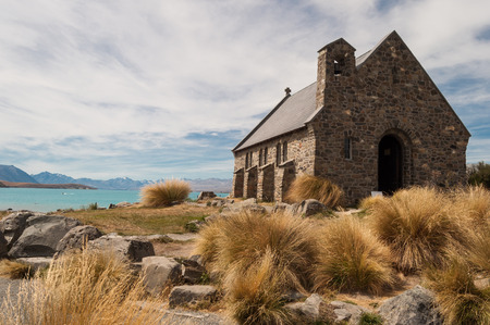Church of the Good Shepherd at Lake Tekapo in Nueva Zelanda photo