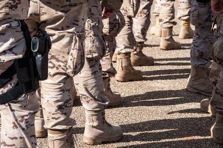 troop: legs of a military troop forming