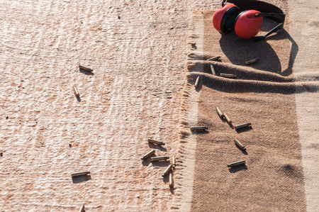 casings: Bullet casings were left discarded on the floor of the firing line