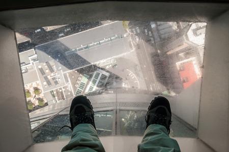 オークランドスカイ タワーから室内高さイメージ 写真素材