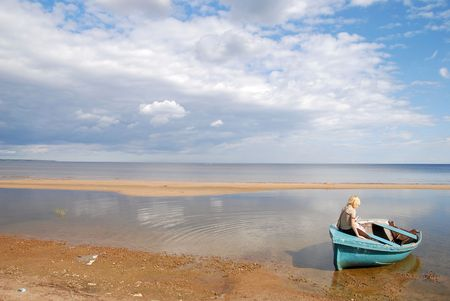 Ladoga lake Stock Photo - 4601106