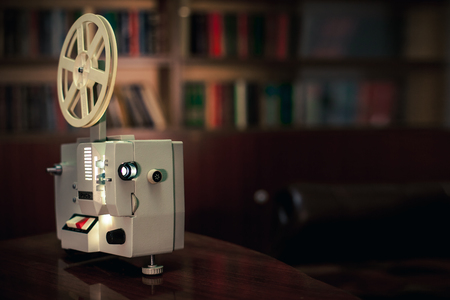 old film projector, the light from the lens 写真素材