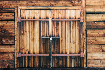 Wooden gates in a barn