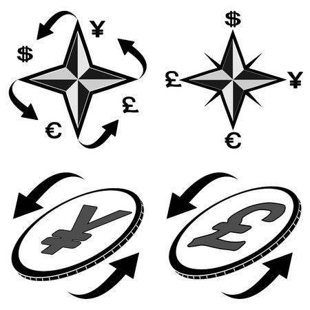 The vector abstract image icons financial symbols Vector