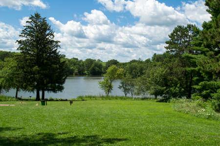 iowa: Entrance of Mariposa Lake and Recreational Area - Jasper County, Iowa