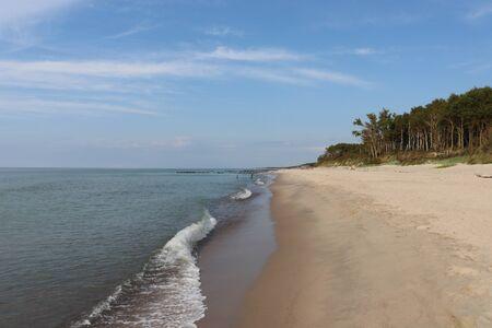 Empty beach. Donskoje. Standard-Bild