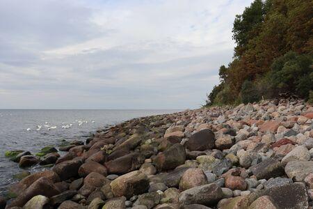 Stony beach. Donskoje.