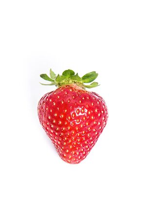 Beautiful red fresh strawberry on white background. Organic fruits concepts.