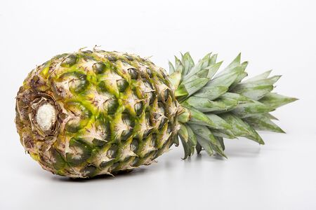 Ripe pineapple isolated on white background. Stock Photo