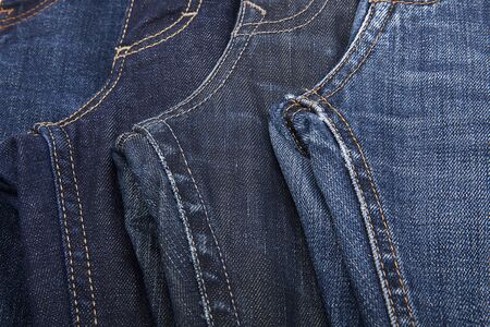 Fashionable clothes. Jeans close-up, detailed image. Stock Photo