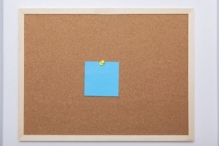 Colorful note papers on cork board (bulletin board).
