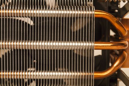 Computer cooler parts. Detailed close-up.
