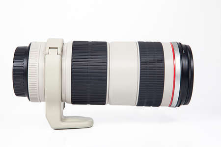 Photo camera lens isolated on white background. Reklamní fotografie