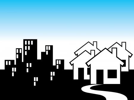 근교: 교외 및 도시