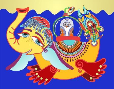 periscope: Ukrainian traditional painting yellow submarine