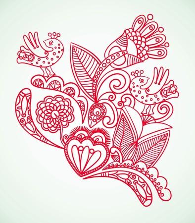 ornate swirls: Floral design element  Illustration
