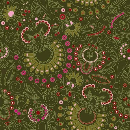 vintage styled design: Seamless pattern  Illustration