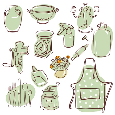 stuffs: home icons  Illustration
