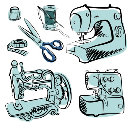 Sewing Tailor set  Vector