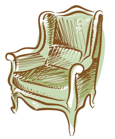 arm chair  Stock Vector - 11159650