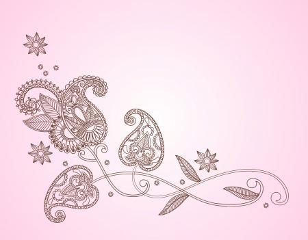 henna design: estampado de flores