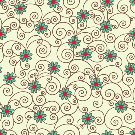 tiling: seamless pattern  Illustration