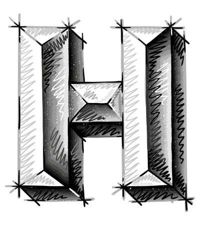 chrome letters: hand draw sketch letters