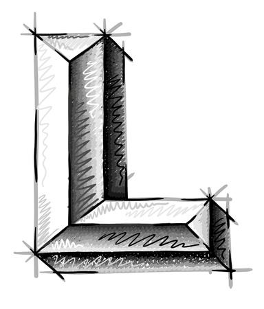 De hand trekt schets brieven