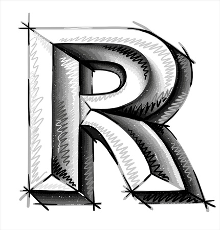 alfabeto graffiti: mano disegnare lettere schizzo Vettoriali