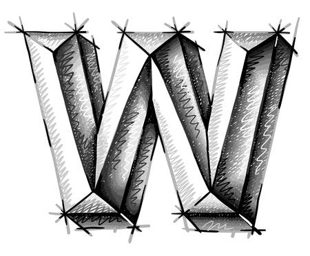 abecedario graffiti: de la mano las cartas de dibujo boceto