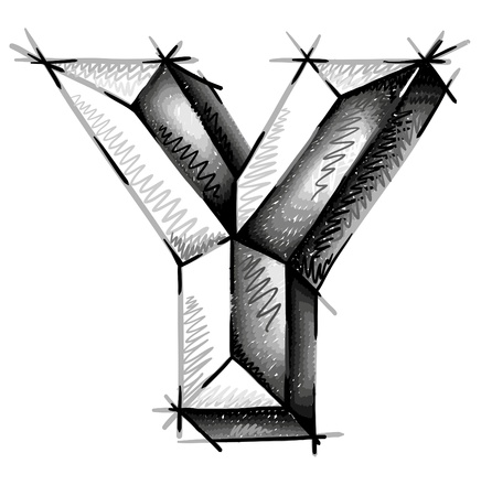 abecedario graffiti: mano de cartas dibujar croquis