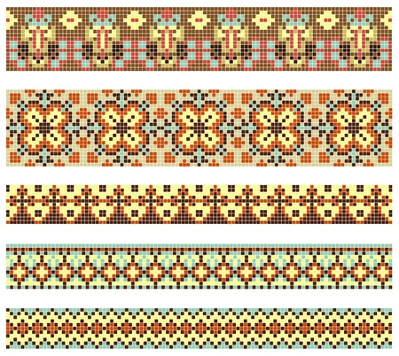 ukraine folk: embroidered good like handmade cross-stitch ethnic Ukraine pattern