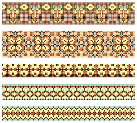 handiwork: embroidered good like handmade cross-stitch ethnic Ukraine pattern
