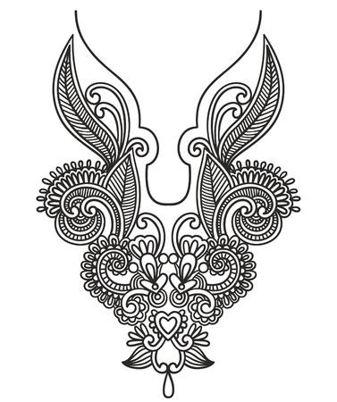 Hals borduurwerk mode Vector Illustratie