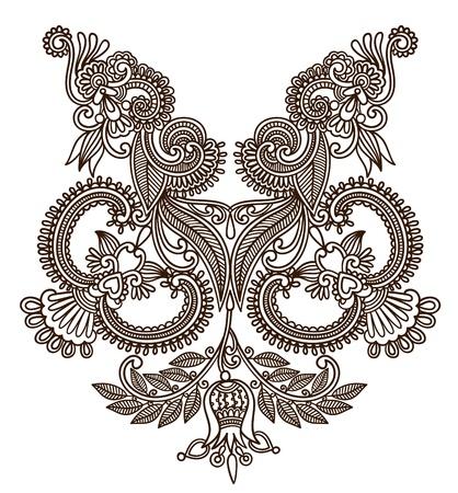 Neckline embroidery fashion  Stock Vector - 11189012