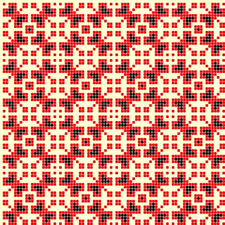 cross stitch: bordados hechos a mano como buenos sin patr�n de punto de cruz �tnicos Ucrania Vectores