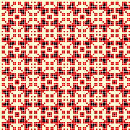 embroidered good like handmade seamless cross-stitch ethnic Ukraine pattern  Vector