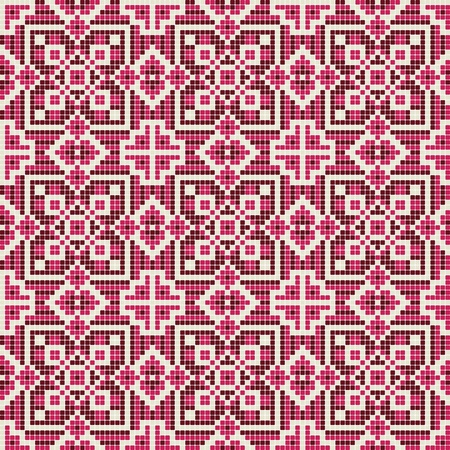 chequered drapery: ornate seamless pattern  Illustration