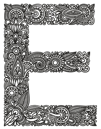 lettering: Hand drawing ornamental alphabet
