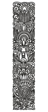flower font: Hand drawing ornamental alphabet