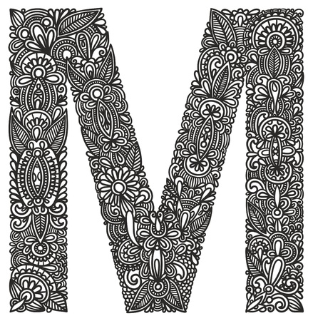 Hand drawing ornamental alphabet Stock Vector - 11189188
