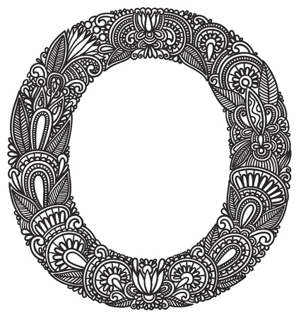 alfabeto graffiti: Disegno a mano Alfabeto ornamentale Vettoriali