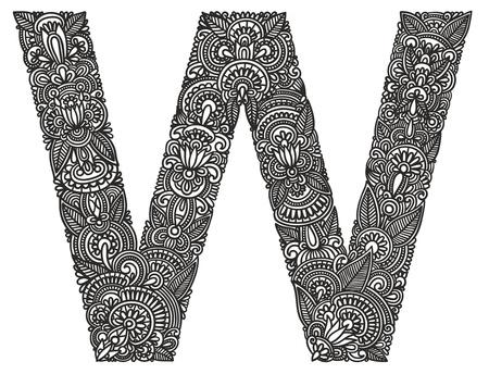 alfabeto graffiti: Disegno a mano alfabeto ornamentali