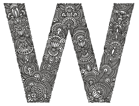 alphabet graffiti: Main dessin alphabet ornementale