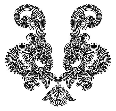 motif cachemire: Mode broderies D�collet� Illustration