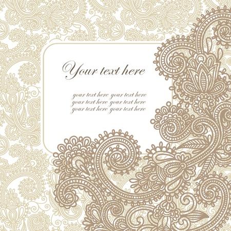 welcome party: marco de anuncio de la tarjeta adornada
